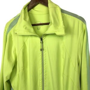 Tangerine Neon Yelliw/Green Full-Zip Jacket Sz XXL